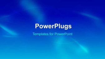 PowerPoint Template - An abstract blue background